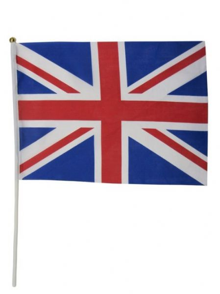 Union Jack Flag Stick 19cm x 30cm Caribbean Pirate Captain